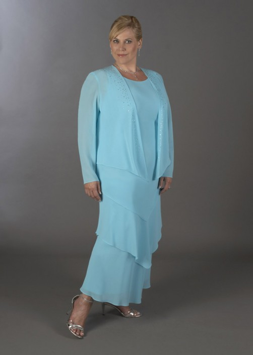 Ursula 52509W Petite Plus Size Mother of the Bride Dress