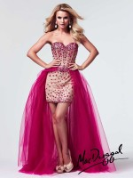 Mac Duggal 10004M High Low Corset Party Dress image