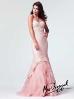 Mac Duggal 10007M Sheer Corset Mermaid Dress image