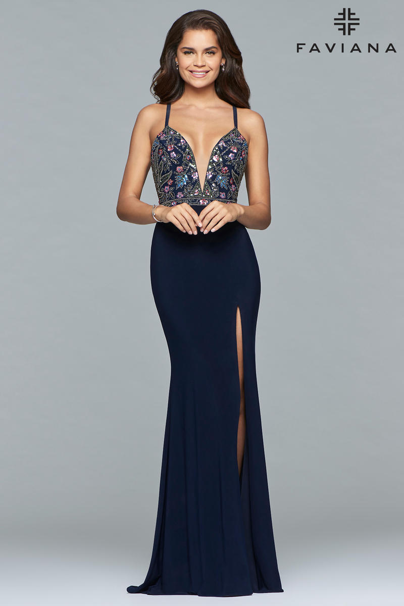 Faviana 10067 Gown with Low Lace Up Back: French Novelty - photo #42