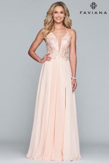 39f891183550af Faviana 10201 Open Lace-Up Back Prom Dress