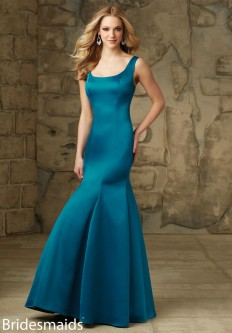 27ec213735a Mori Lee 101 Bridesmaid Gown with Lace Jacket.  164.00. Mori Lee 104 U Back  Satin Bridesmaid Gown