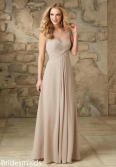 64a62f0d9d3 Mori Lee 106 Chiffon Illusion Bridesmaid Gown