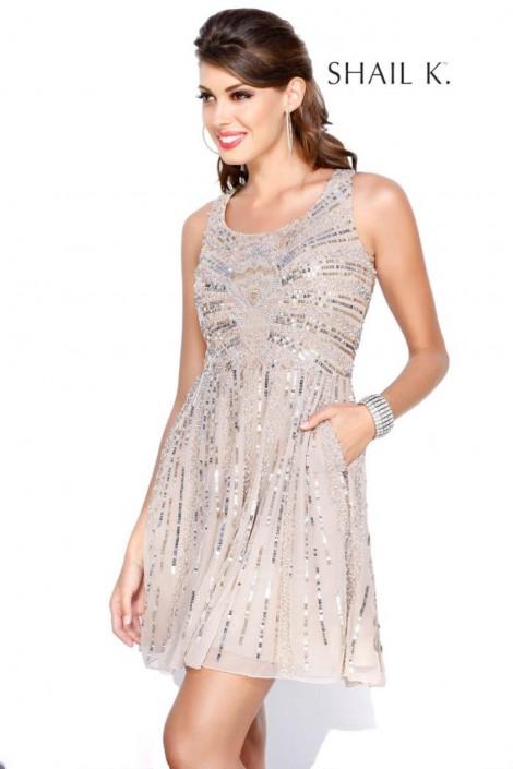 Shail K 1079 Sequin Bachelorette Party Dress: French Novelty