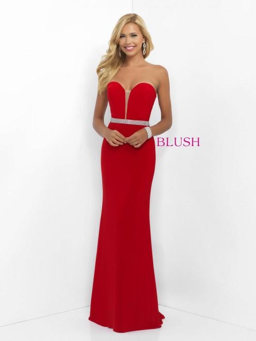 Blush 11010 Exquisite Column Evening Dress French Novelty