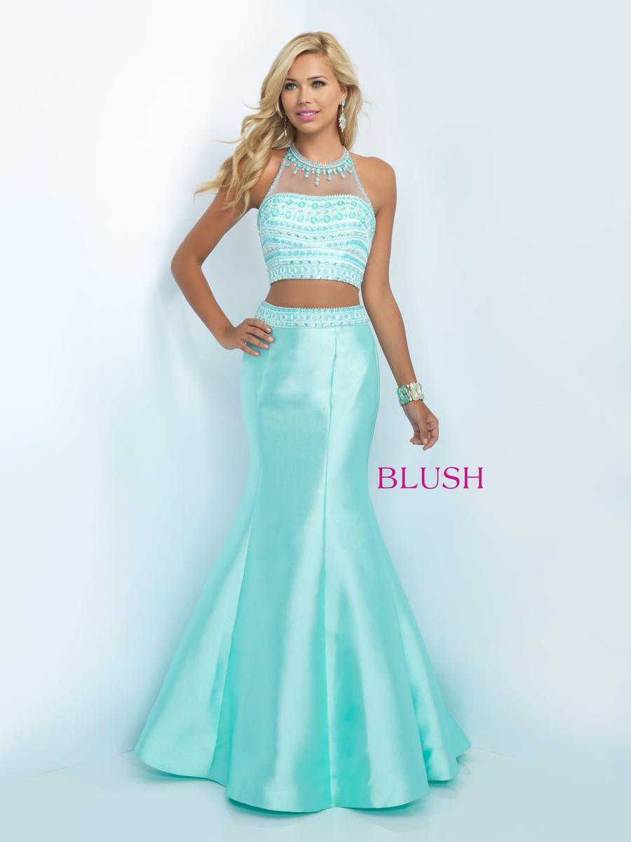 Blush 11084 Mermaid Prom Gown: French Novelty