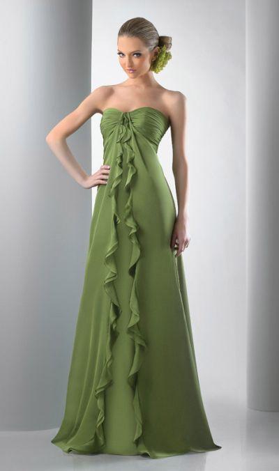 Ruffled Strapless Long Bari Jay Bridesmaid Dress 111