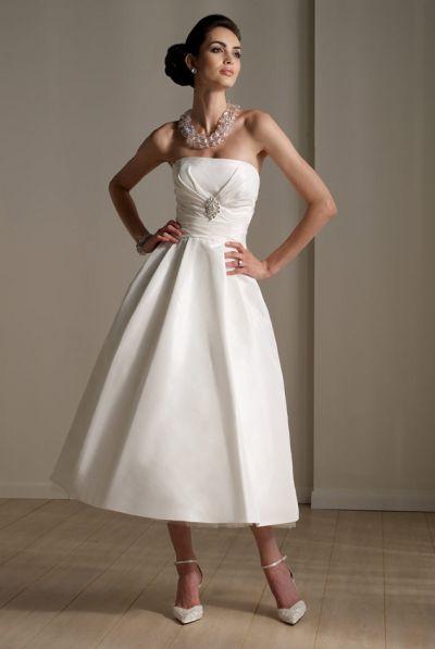 af58e6811 Destinations by Mon Cheri Ballerina Length Wedding Dress 111176: French  Novelty