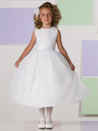 Size 5 White Joan Calabrese Girls First Communion Dress 111364 ...
