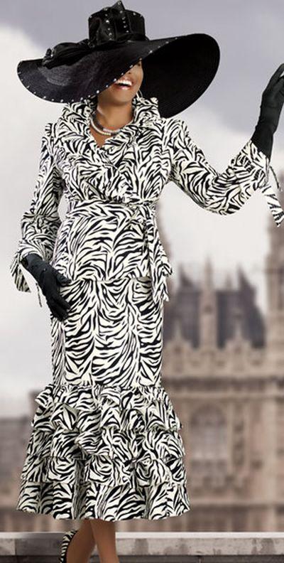 Donna Vinci 11154 Womens Black And White Boucle Church
