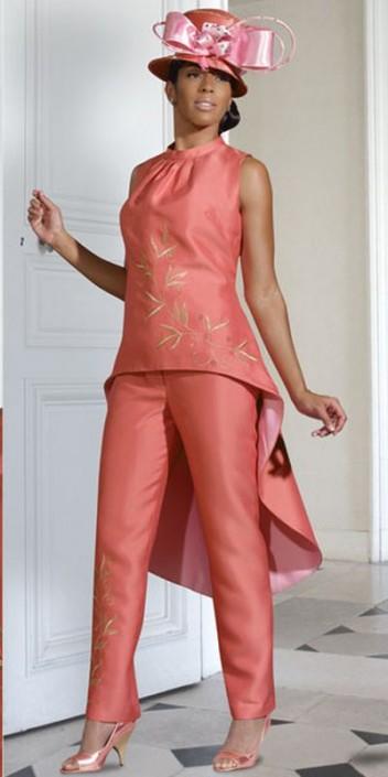 Donna Vinci 11164 Womens Fashion Pant Suit: French Novelty