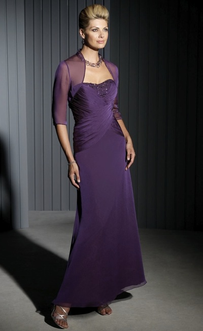 Cameron Blake Evening Dress with Sheer Bolero Jacket 111677 ...