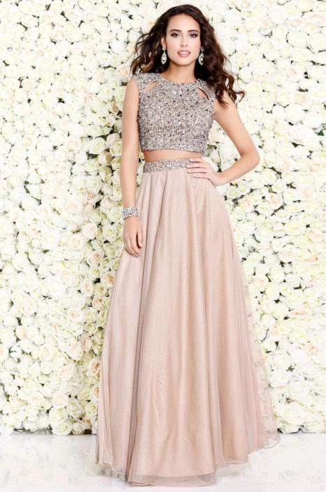 Shail K 1118 Boho Chic 2 Piece Prom Dress: French Novelty