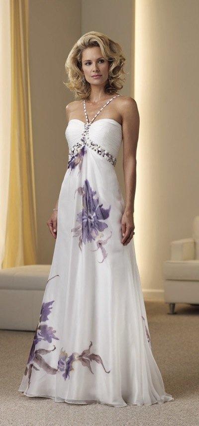 Montage By Mon Cheri Floral Chiffon Halter Gown 111915