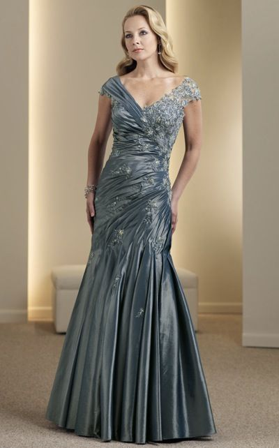 Montage Boutique Lace and Taffeta Evening Dress by Mon Cheri ...