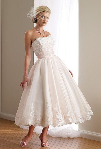 Destinations by Mon Cheri Ballerina Length Wedding Dress 112108T ...
