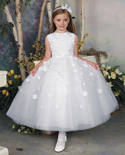 181c9571ba Joan Calabrese by Mon Cheri Flower Girls Dress 112309  French Novelty