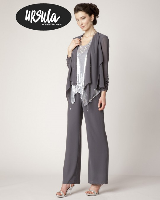Ursula Micro Sequin Dressy Pant Suit 11233: French Novelty