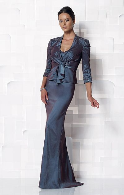 Cameron Blake Long Mother of the Bride Jacket Dress 112632: French ...