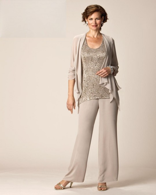 b936a265cdec Ursula 11268 Mother of the Bride Pant Suit: French Novelty