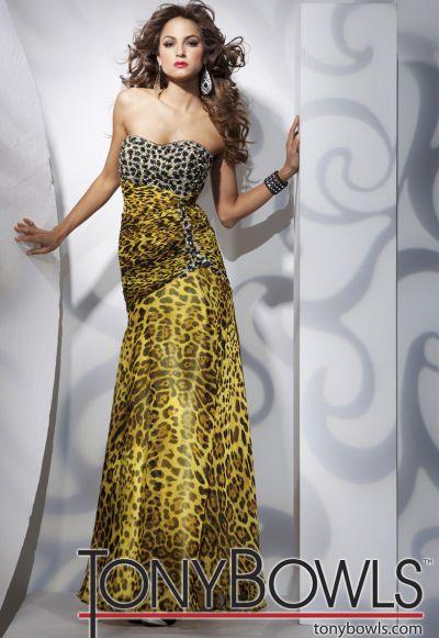 Tony Bowls Leopard Prom Dresses