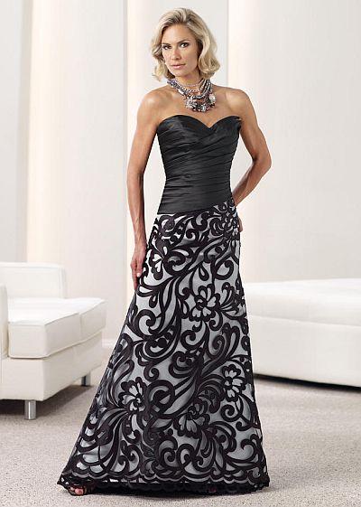 Montage by Mon Cheri Ruched Drop Waist Evening Dress ...