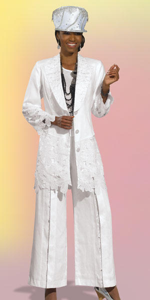 Donna Vinci 11296 Womens Linen Church Suit: French Novelty