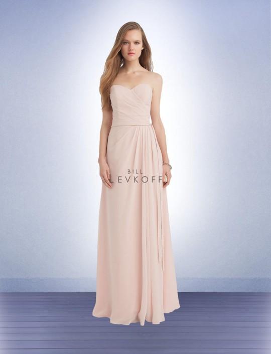 Bill Levkoff 1130 Two Tone Chiffon Bridesmaid Gown: French Novelty
