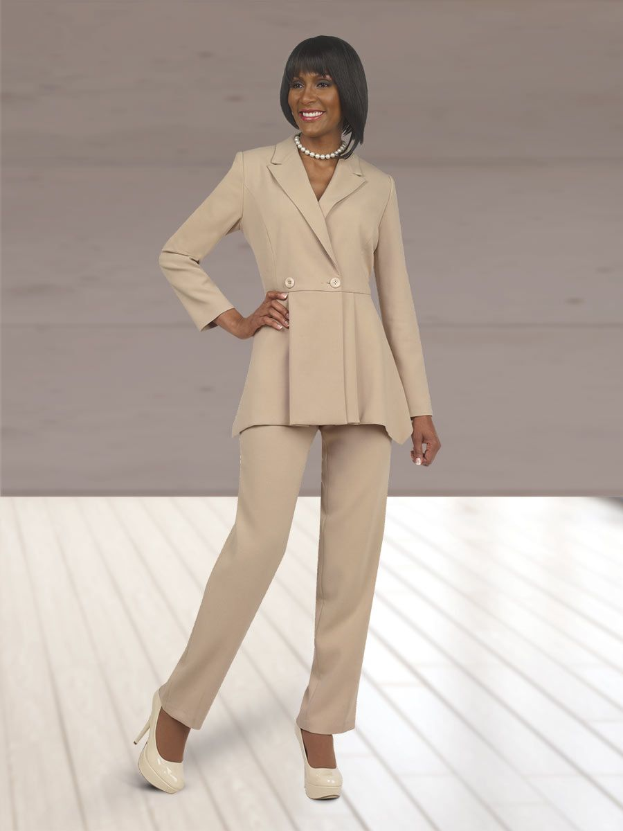 Ben Marc Executive 11300 Womens Flattering Pant Suit