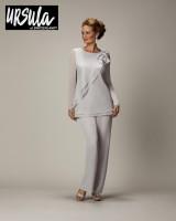 Size 14 Silver Ursula of Switzerland 11307 MOB Pant Set image