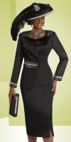 Donna Vinci 11311 Womens Satin Church Suit image
