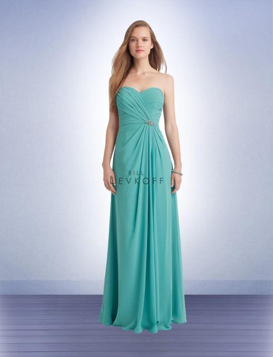 ffcd3c18f6 Bill Levkoff 1132 Bridesmaid Gown with Rhinestone Pin  French Novelty