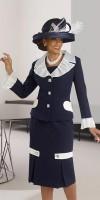 Donna Vinci 11322 Womens Organza Trim Church Suit image