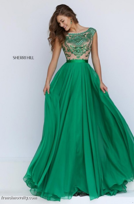 Sherri Hill 11332 Cap Sleeve Evening Dress: French Novelty