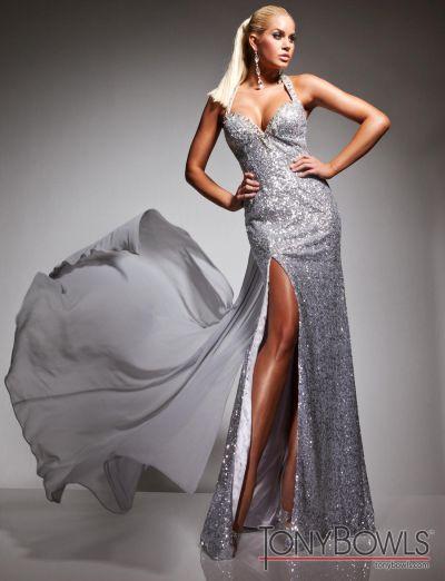 Tony Bowls Le Gala 113514 Sequin Evening Dress: French Novelty