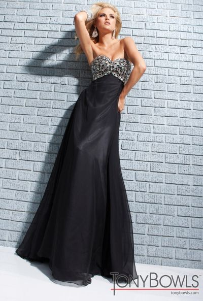 Tony Bowls Le Gala Black Formal Dress 113517 French Novelty