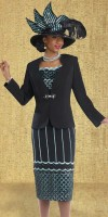 Donna Vinci 11361 Womens Embroidered Church Suit image