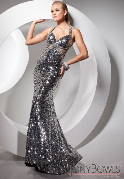 Tony Bowls Paris 113739 Sequin Dresses for Spring 2013: French Novelty