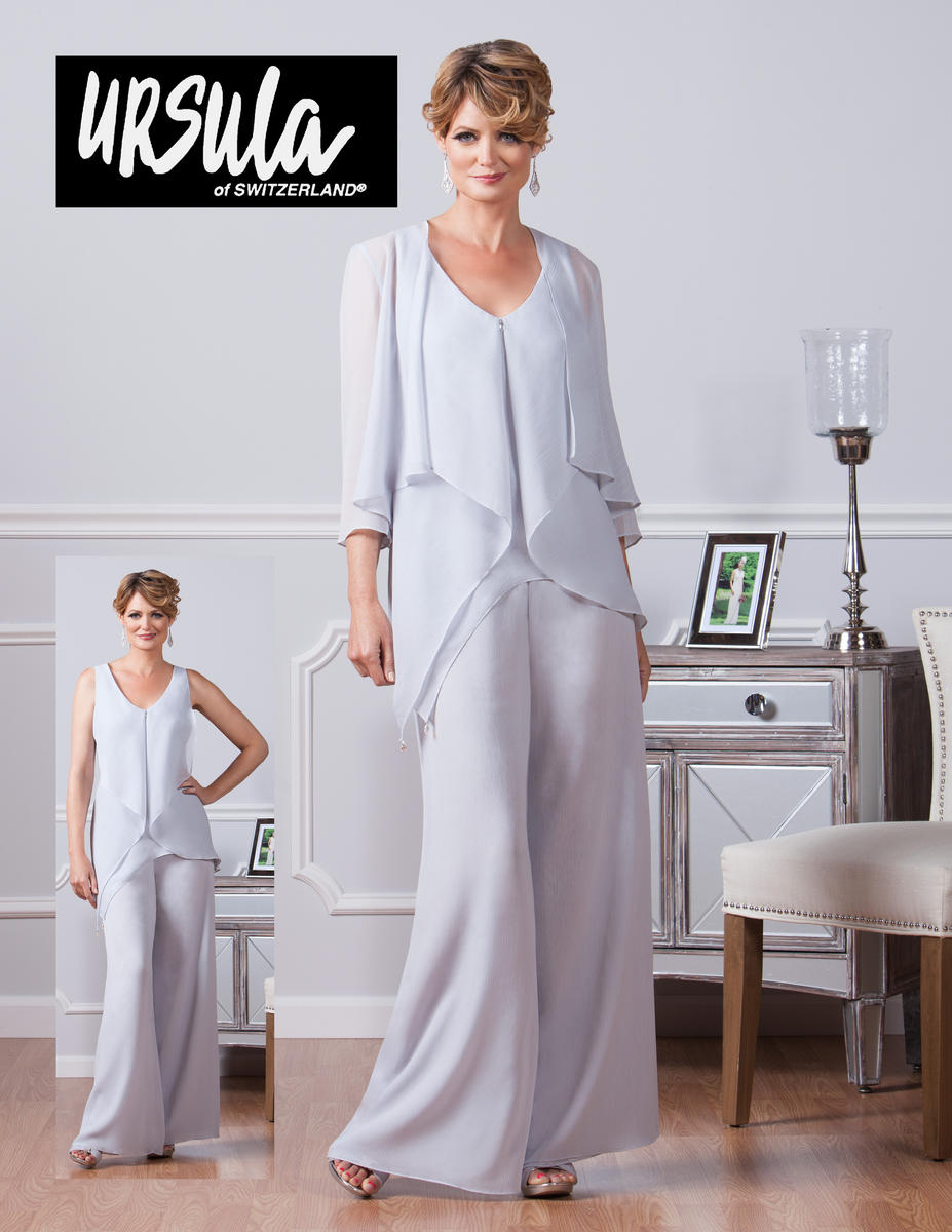 Ursula 11382 Mother of the Bride 3pc Pant Set: French Novelty