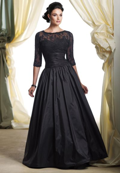 Montage Boutique 113951 Taffeta and Lace Ball Gown with Bolero ...