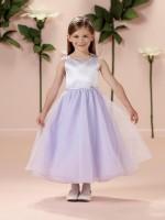Size 6 White Joan Calabrese for Mon Cheri 114335 Flower Girl Dress image