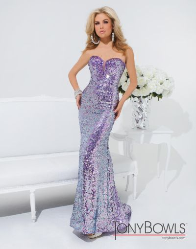 32b2d26fd174 Tony Bowls 114506 Le Gala Sequin Evening Dress: French Novelty