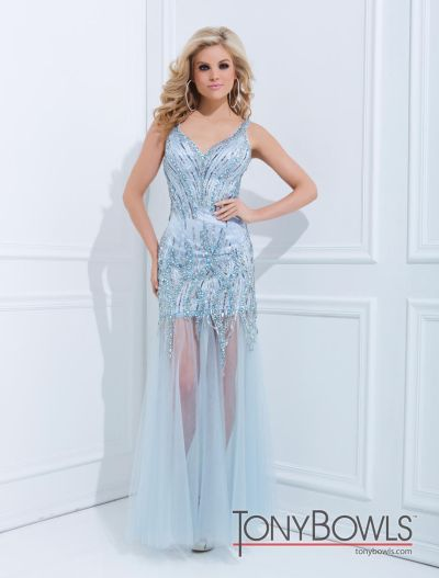 Tony Bowls Le Gala 114523 Gown With Removable Skirt French Novelty