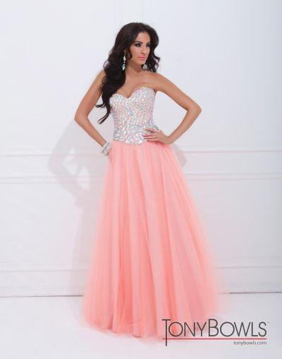 b44d3856e777 Tony Bowls 114525 Le Gala Tulle Formal Dress: French Novelty
