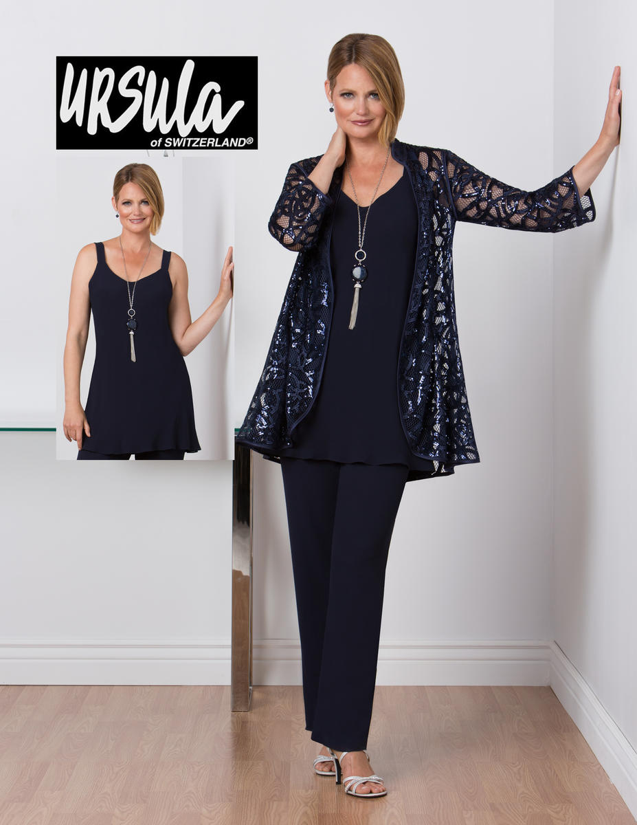 Ursula 11461 Sequin Swirl Mother of the Bride Pant Suit ...