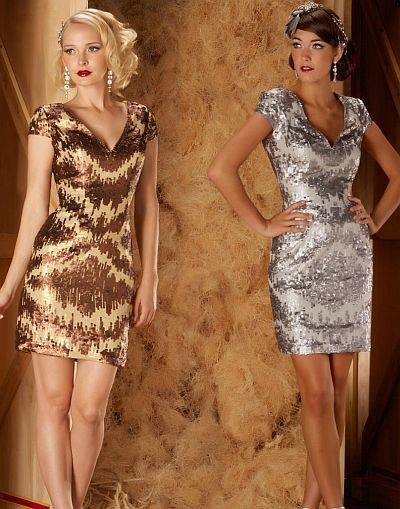 abendkleider online kaufen - Mac Duggal Couture Modest dennoch eleganten Cocktail-Kleid