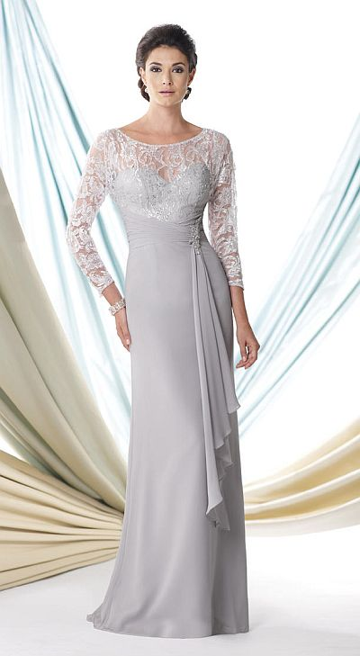 Montage 114920 Long Sleeve Mother of the Bride Dress: French Novelty