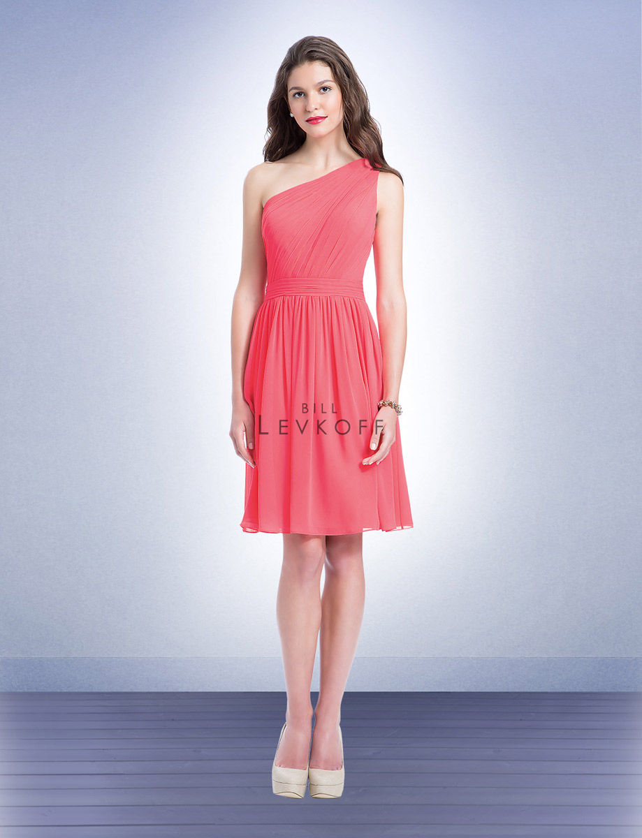 Bill levkoff 1151 short one shoulder bridesmaid dress french novelty ombrellifo Gallery