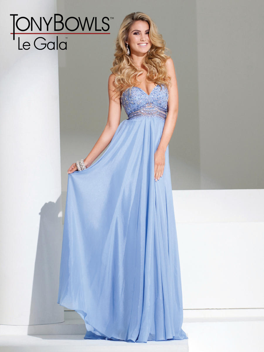 Tony Bowls Le Gala 115505 Shimmer Chiffon Gown: French Novelty