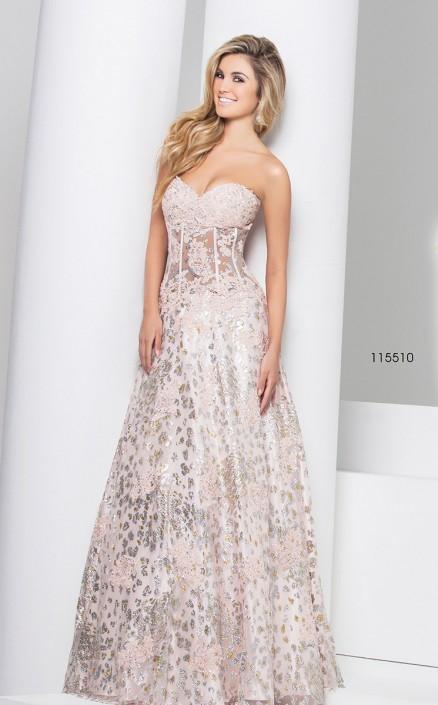 1e9cd9080800 Tony Bowls Le Gala 115510 Sheer Corset Prom Dress: French Novelty